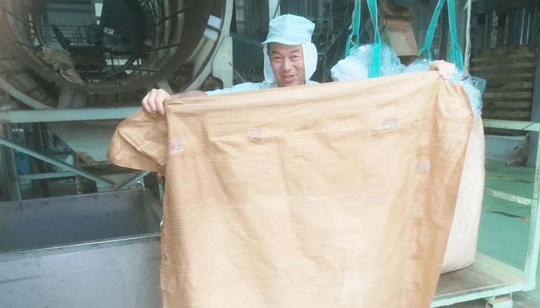 醤油の圧搾で使われる大きな布