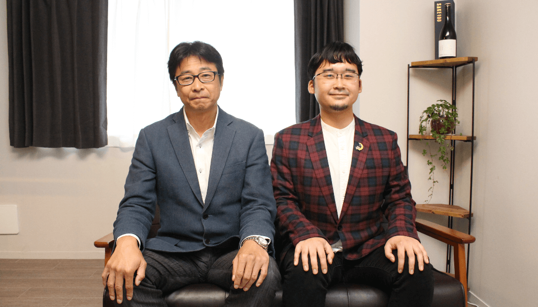 SAKETIME株式会社代表取締役社長・吉田和司さんとSAKETIMES編集長・小池潤さん