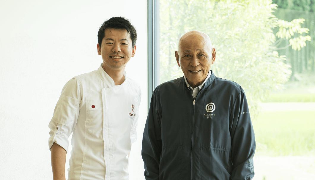 農口尚彦さんと(写真右)と稗田良平さん
