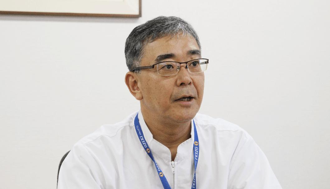 大関常務取締役・生産本部長の中村甚七郎氏。