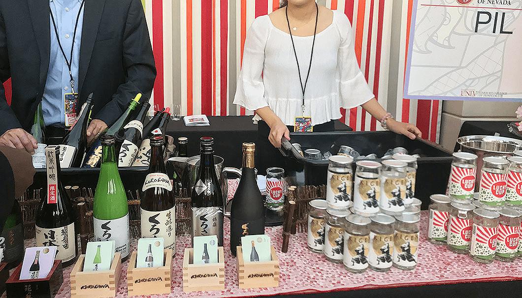 ラスベガスで開催された「Sake Fever」の日本酒ブース