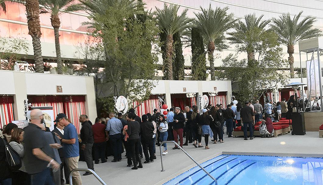 ラスベガスで開催された「Sake Fever」の会場の様子