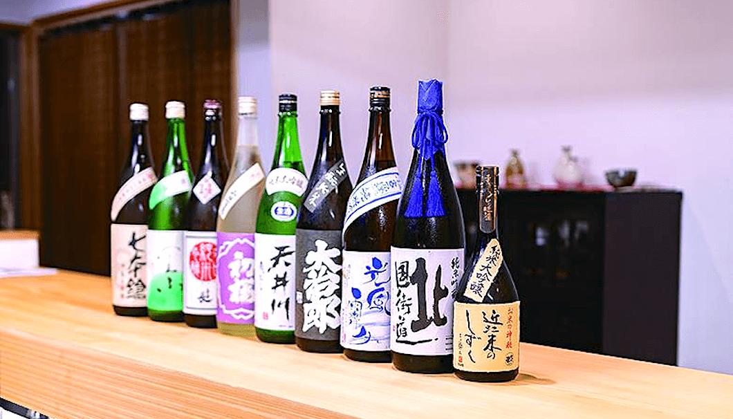 「紫竹 葵湖」の日本酒メニュー