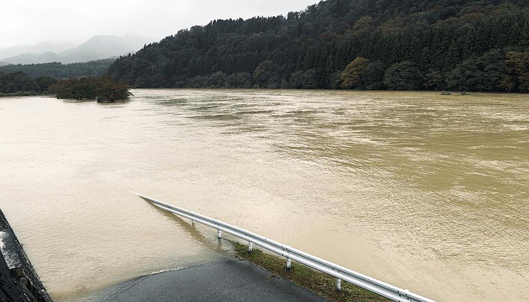 氾濫した常浪川