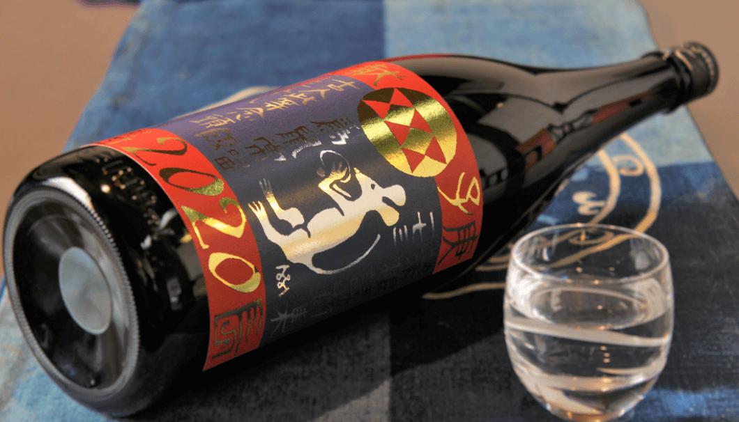 純米大吟醸「小鼓 干支図象 庚子(えとラベルかのえのね)」のボトル画像