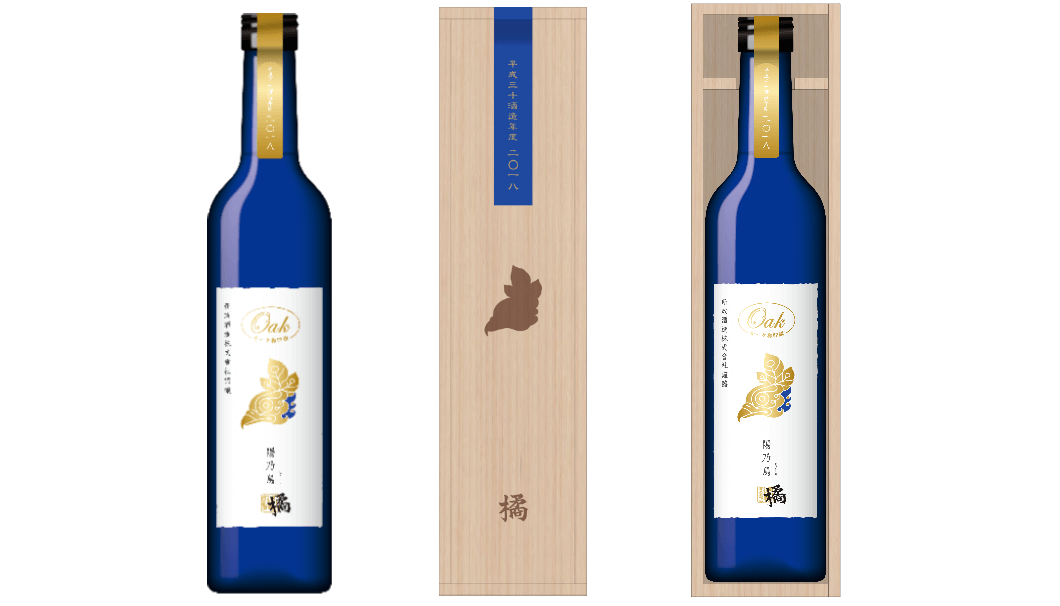 「EXILE/EXILE THE SECOND」の橘ケンチと日本酒界の革新的なひと蔵として多くの支持を集める新政酒造株式会社(秋田県秋田市)のコラボ日本酒〈陽乃鳥橘〉のボトル画像