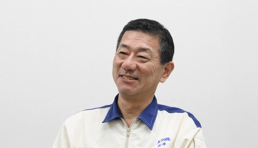 白鶴酒造の生産本部長を務める櫻井一雅さん