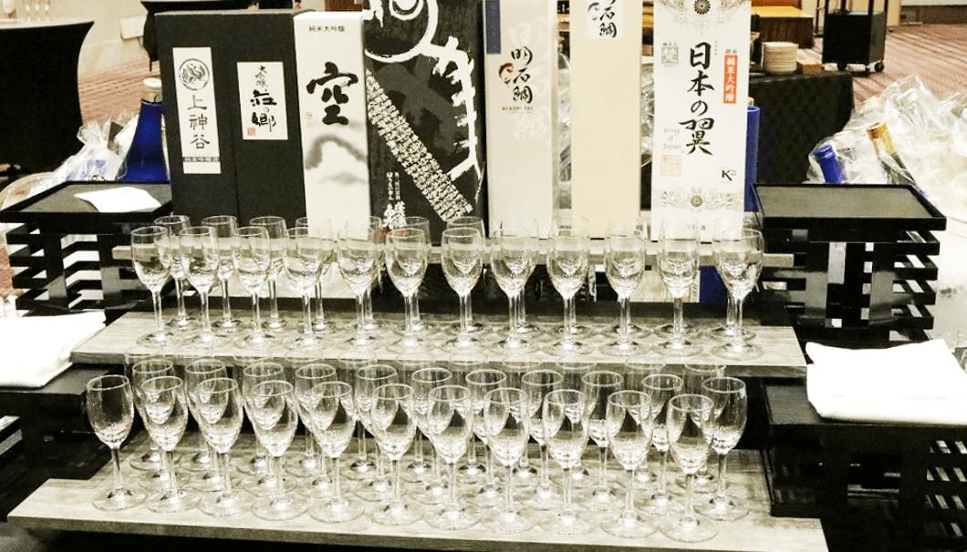 「日本酒輸出戦略ビジネスサミット2019」の試飲ブース