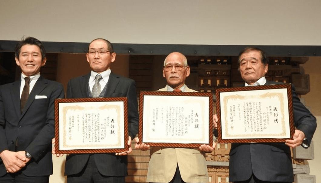 左から、桜井社長、坂内さん、藤原さん、白井さん