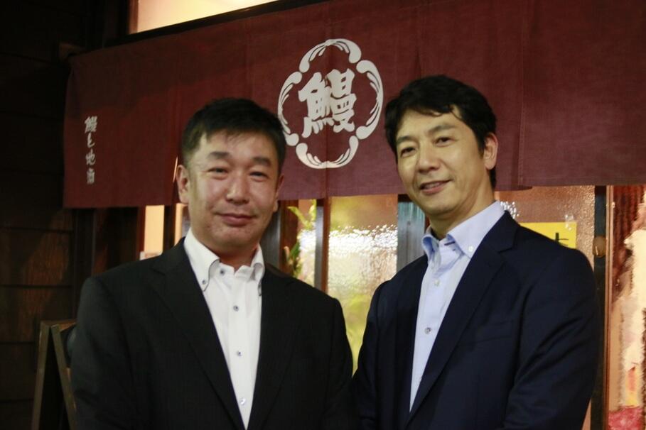 (左)泉酒造 営業 永井正明氏 (右)杜氏 和氣卓司氏