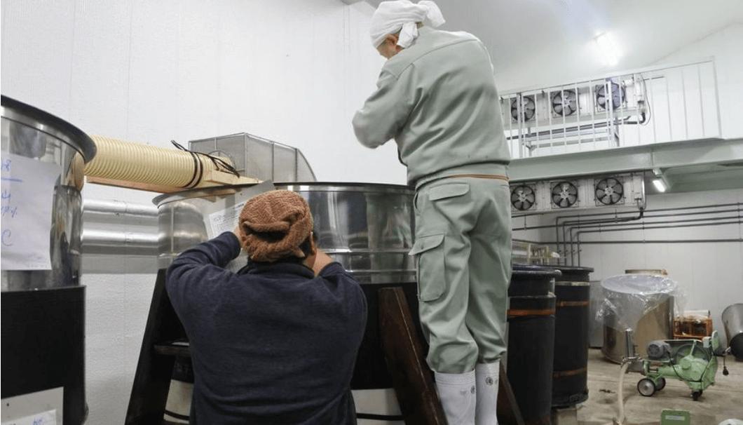 長野銘醸での和田さんのタンク