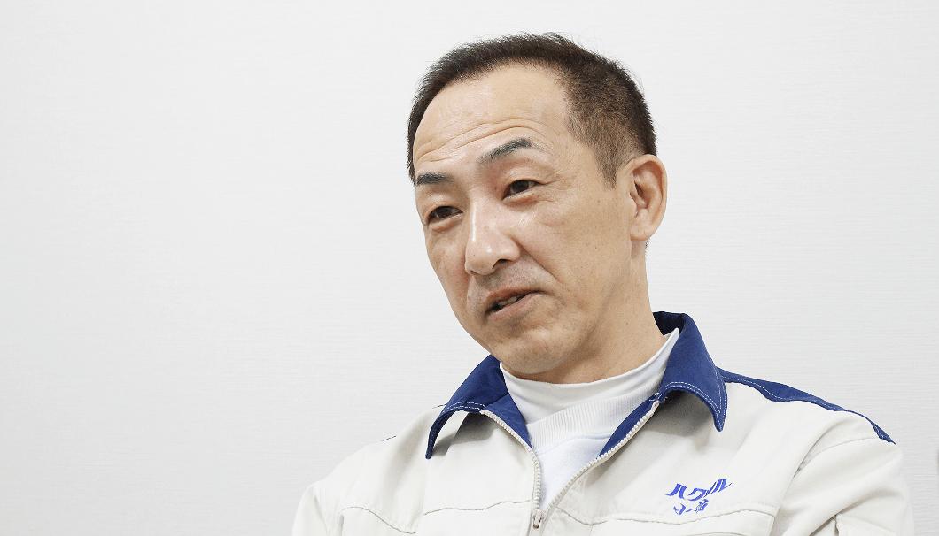 白鶴酒造 本店二号蔵工場長の小佐光浩さん