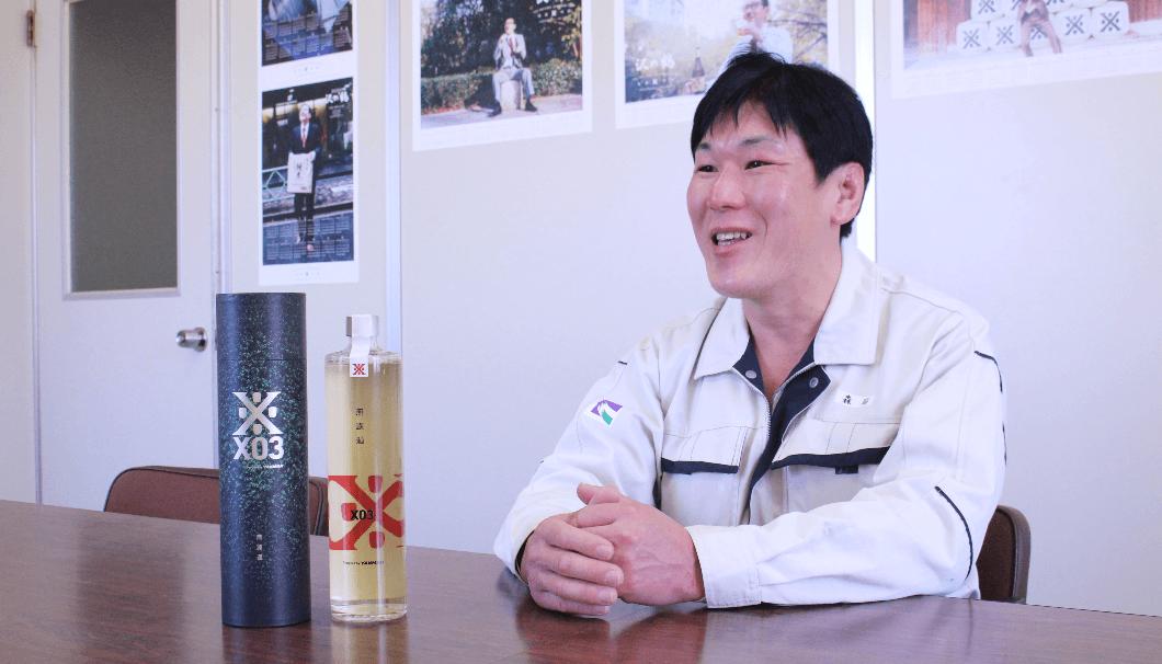 沢の鶴製造部杜氏代行の森脇正博さん
