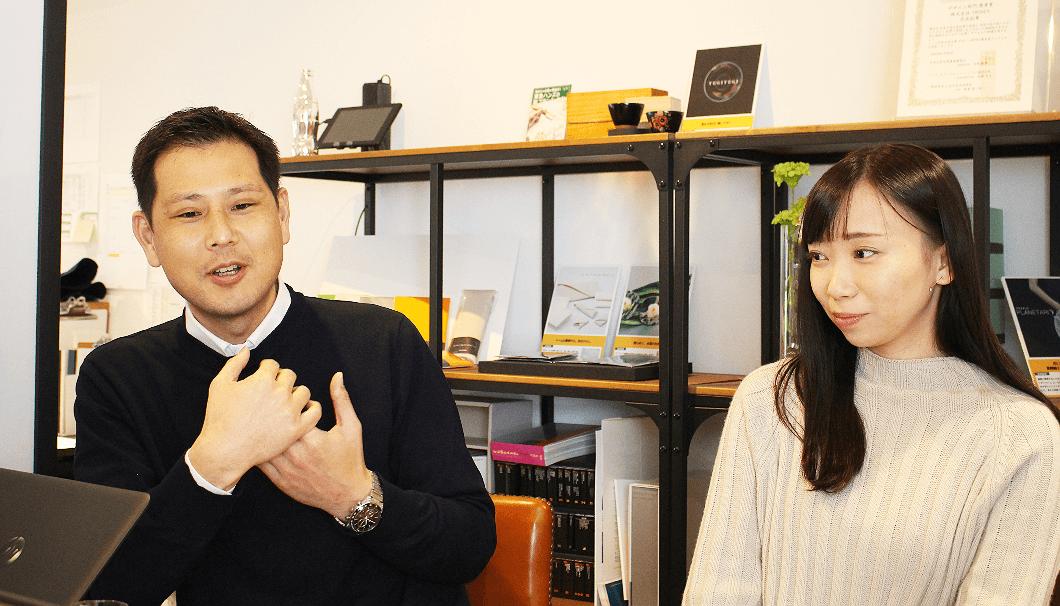沢の鶴 マーケティング室 次長の宮﨑紘二さん(写真左)とTRINUS プロデューサーの郷内ちひろさん(写真右)