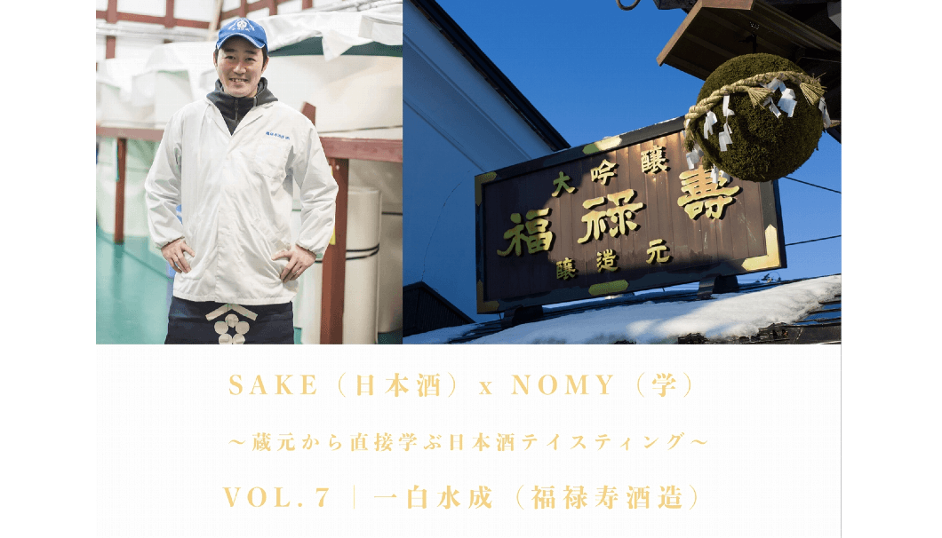 SAKE(日本酒)x NOMY(学) VOL.7 | 一白水成(福禄寿酒造株式会社)