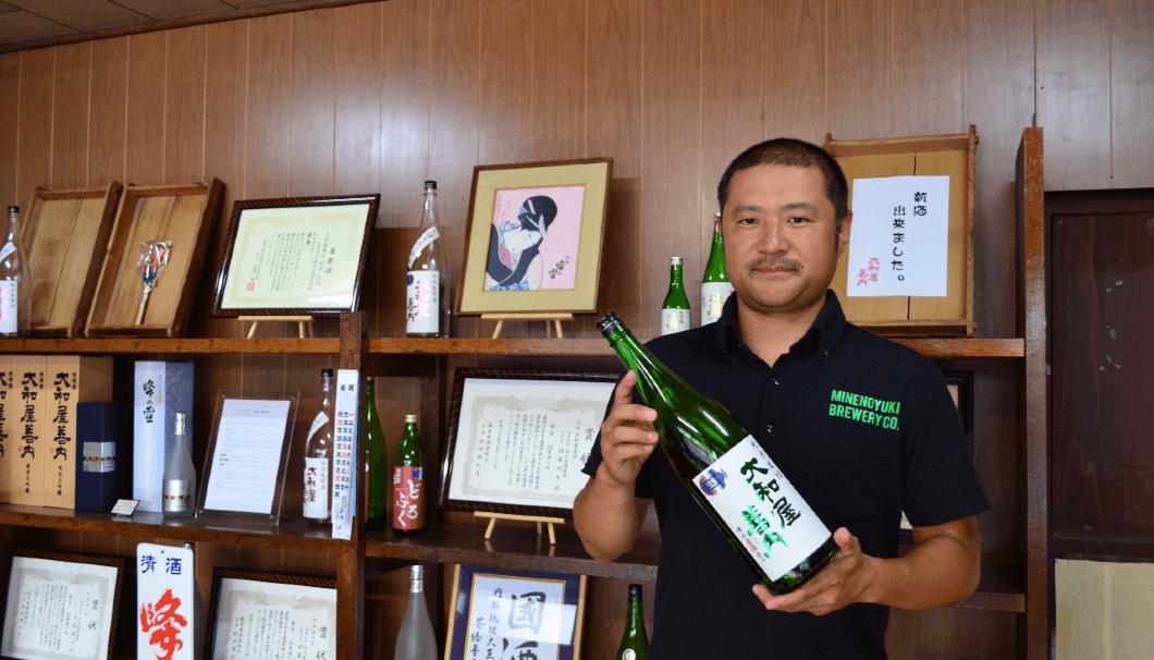 峰の雪酒造場 杜氏の佐藤健信さん