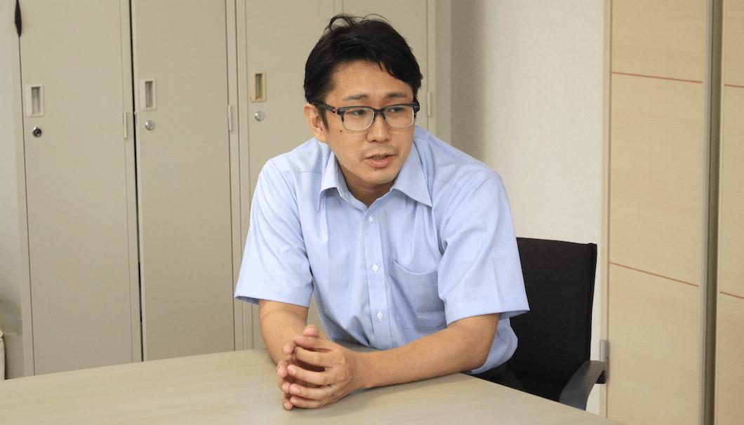 大関 営業推進部商品開発グループの菅野洋一朗さん