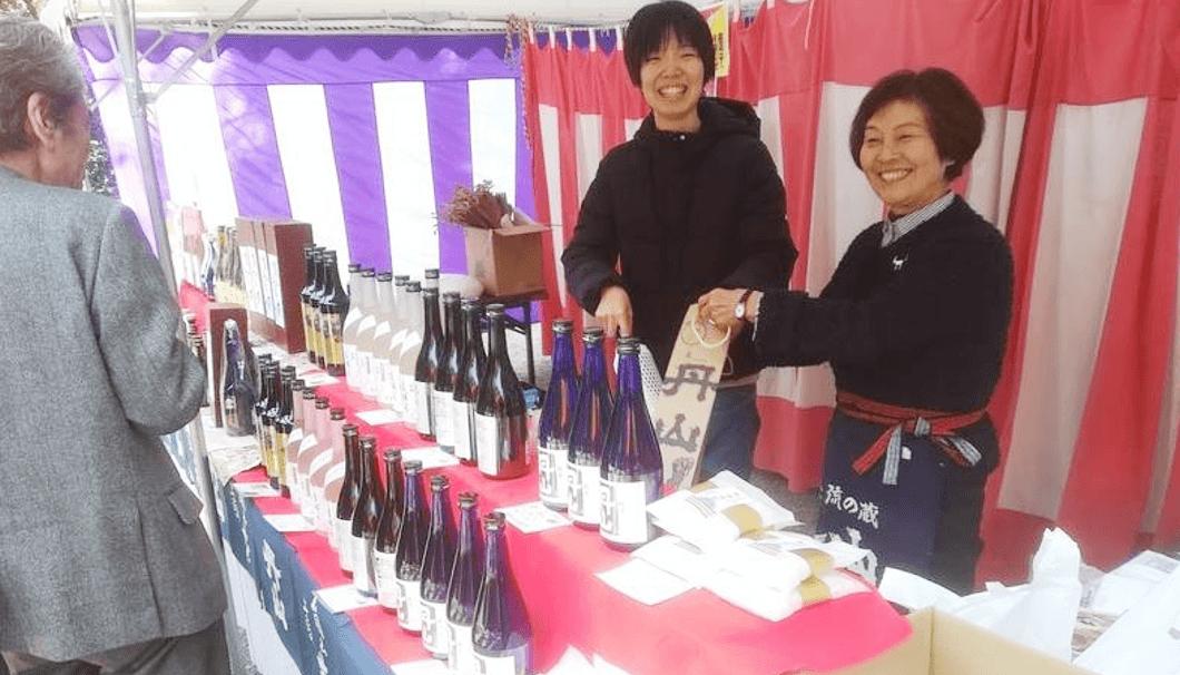 下鴨神社にある丹山酒造の販売ブース