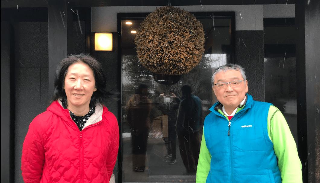 左から藤田美穂社長、横道俊昭杜氏
