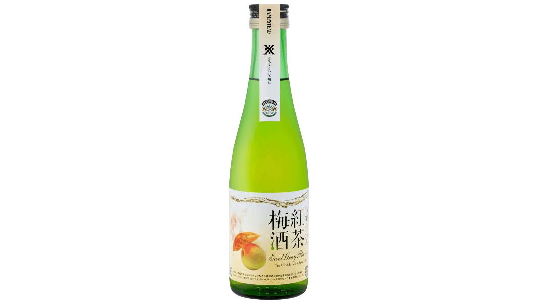 沢の鶴株式会社(兵庫県神戸市)とロンドンの紅茶メーカー「HAMPSTEAD TEA」がコラボした「古酒仕込み 紅茶梅酒」