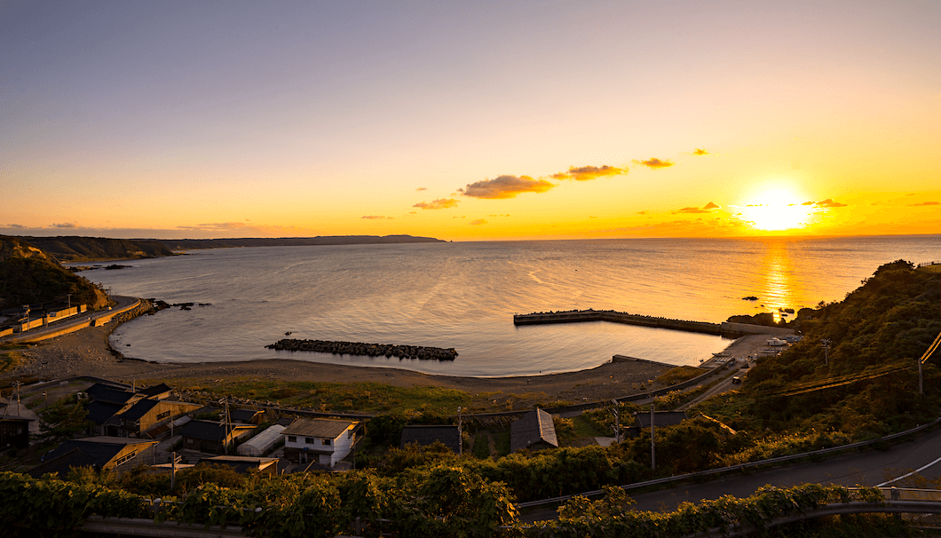 佐渡島の風景