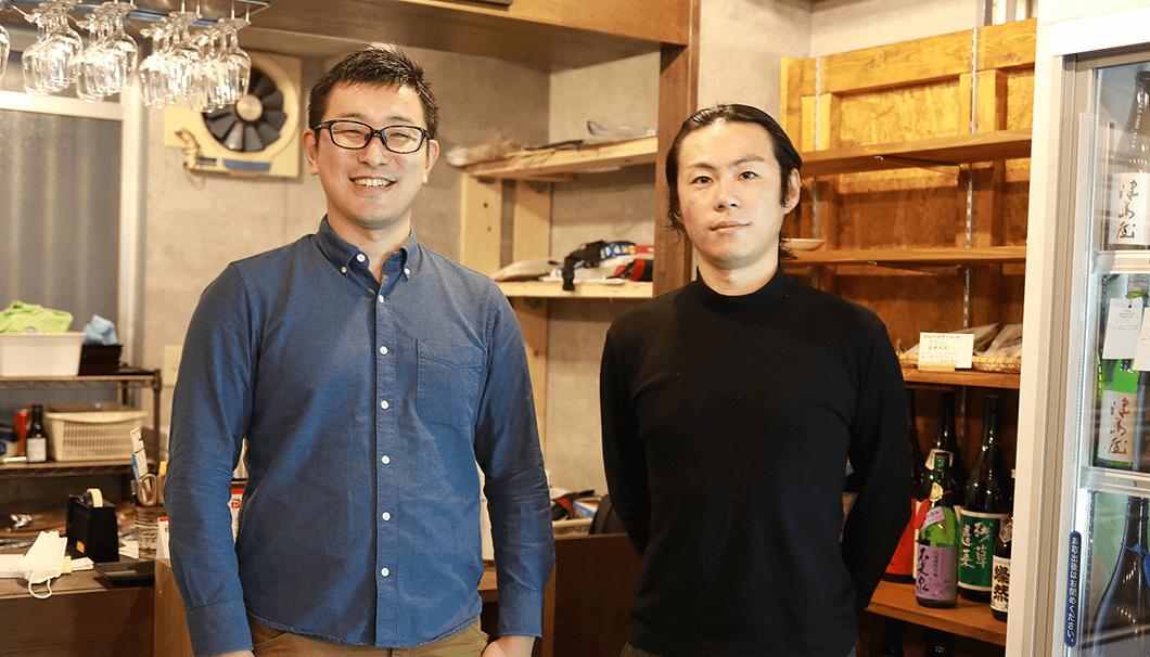 メディア担当の二戸浩平さんと代表の藤田利尚さん