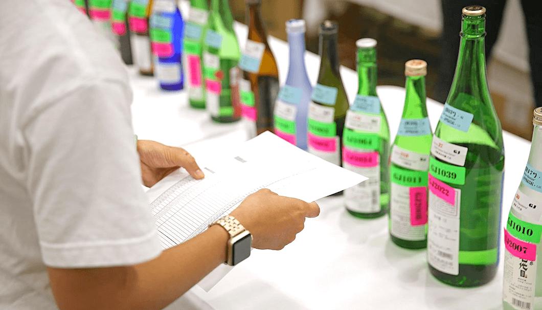「2020年度 全米日本酒歓評会」の審査風景