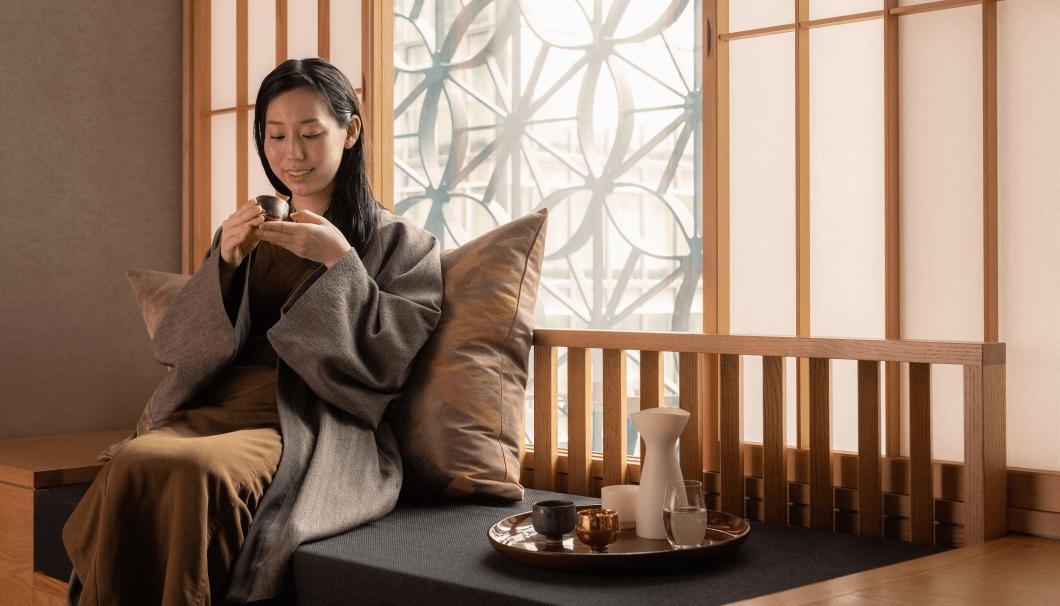 日本旅館「星のや東京」の「江戸東京・SAKE滞在」プログラム