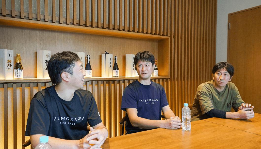 左から順に、川名啓介さん、佐藤秀雄さん、長谷川千浩さん