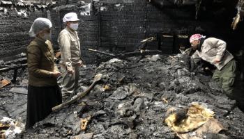 全焼した澤田酒造の麹室