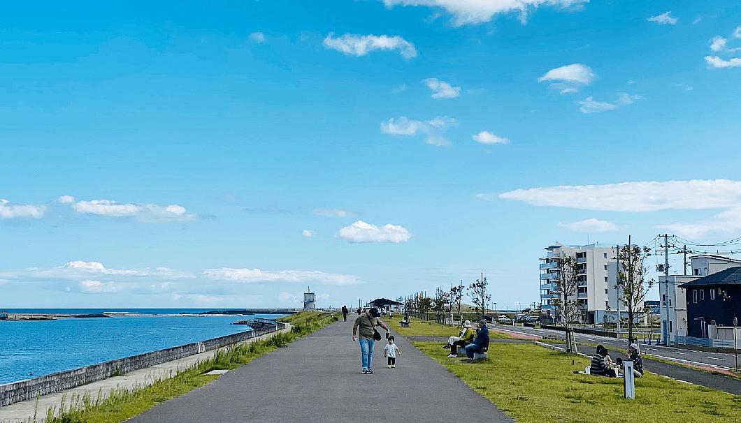 宮城県名取市閖上の街並み