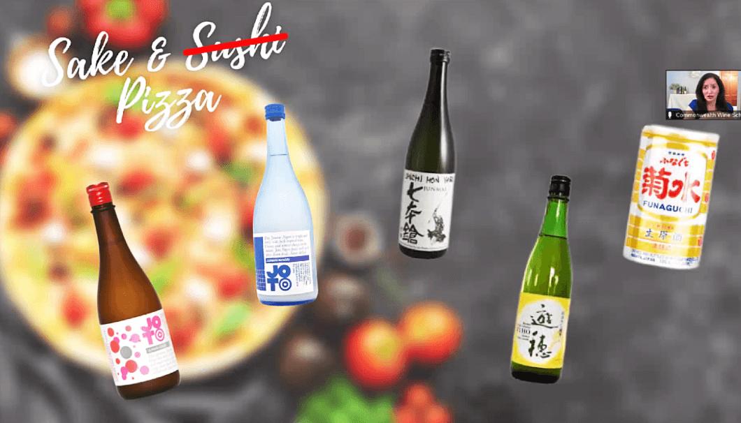ピザと日本酒