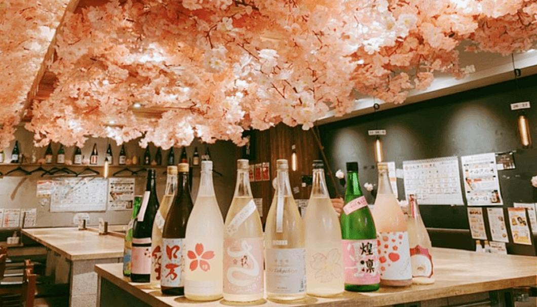 日本酒原価酒蔵「店内お花見キャンペーン」