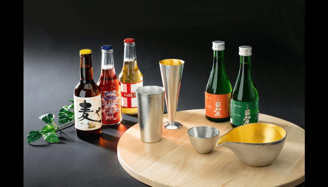 富山・若鶴酒造の人気酒「苗加屋」× 錫の酒器セット