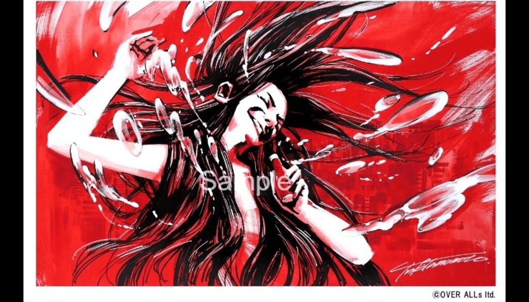 「HITOMAKU」のラベルイラスト