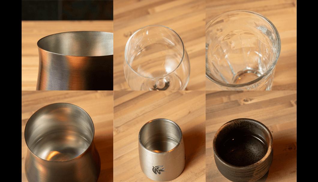 「日本一、日本酒を美味しく飲めるグラス」飲み口の比較