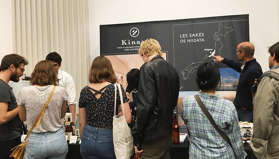 2019年に開催された「Salon du sake」の様子。ここでも「新潟」をしっかりとPR。(画像提供:Kinase)
