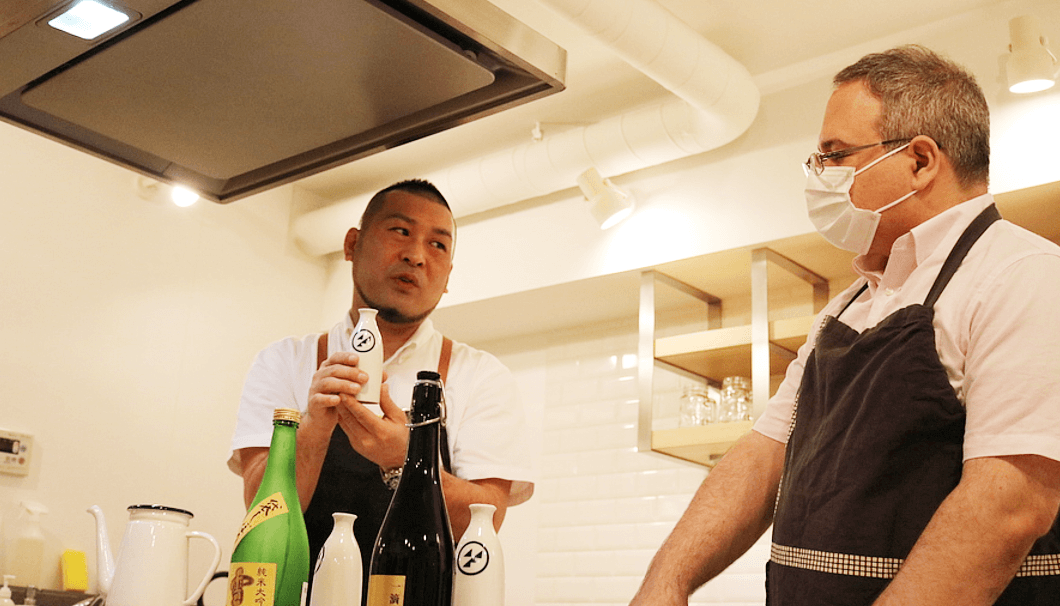 講師の水原将さん(写真左)(画像提供:Kinase)