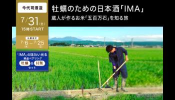 牡蠣のための日本酒「IMA」蔵人が作るお米「五百万石」を知る旅
