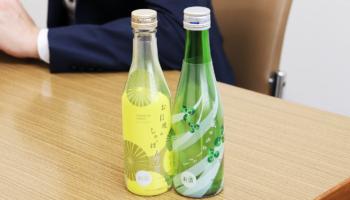 白鶴酒造「別鶴プロジェクト」第二弾の「お日様のしゃぼん玉」(写真左)と「そよ風のクローバー」