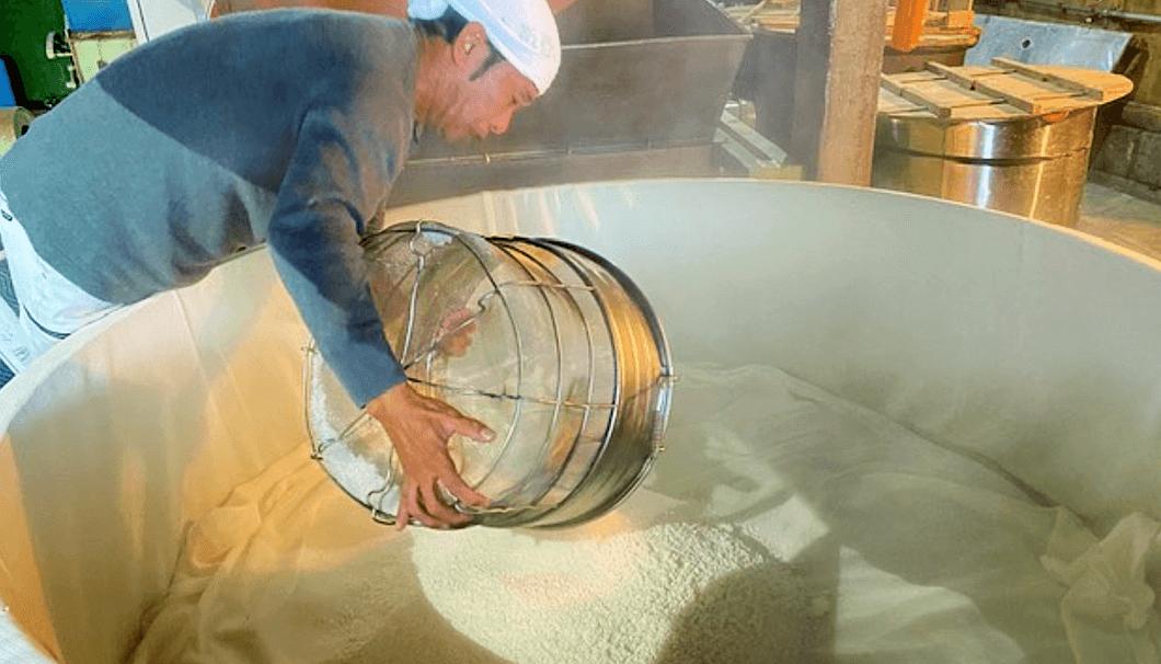 岩瀬酒造の原料処理