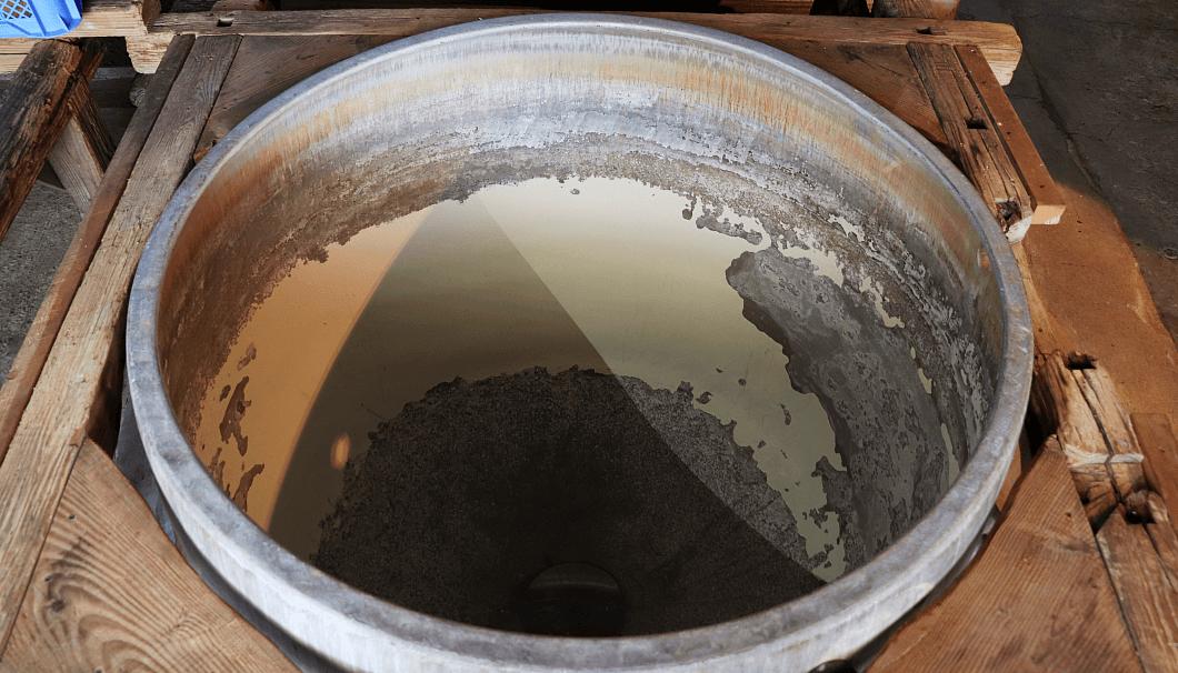 蒸米を蒸すための釜