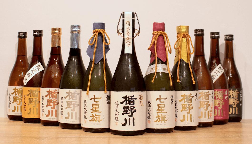 楯の川酒造の商品ラインナップ