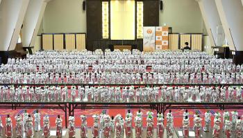 ワイングラスで美味しい日本酒アワード審査会の様子