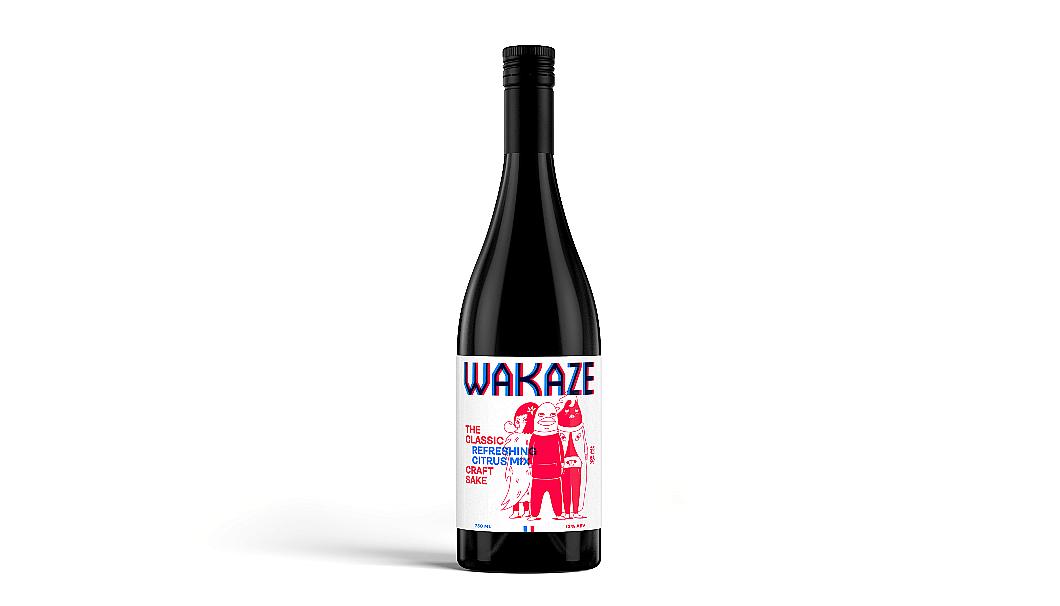 ポップなキャラクターが印象的なTHE CLASSIC」のボトル(画像提供:WAKAZE)