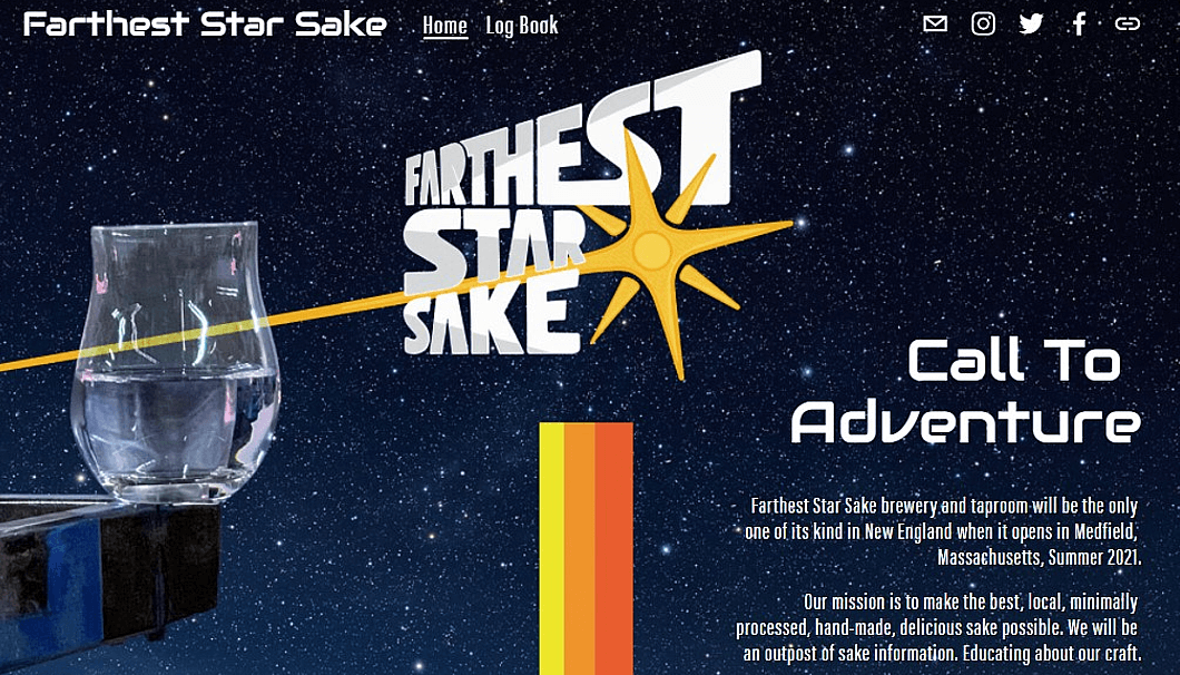 「Farthest Star Sake!」のWEBサイト