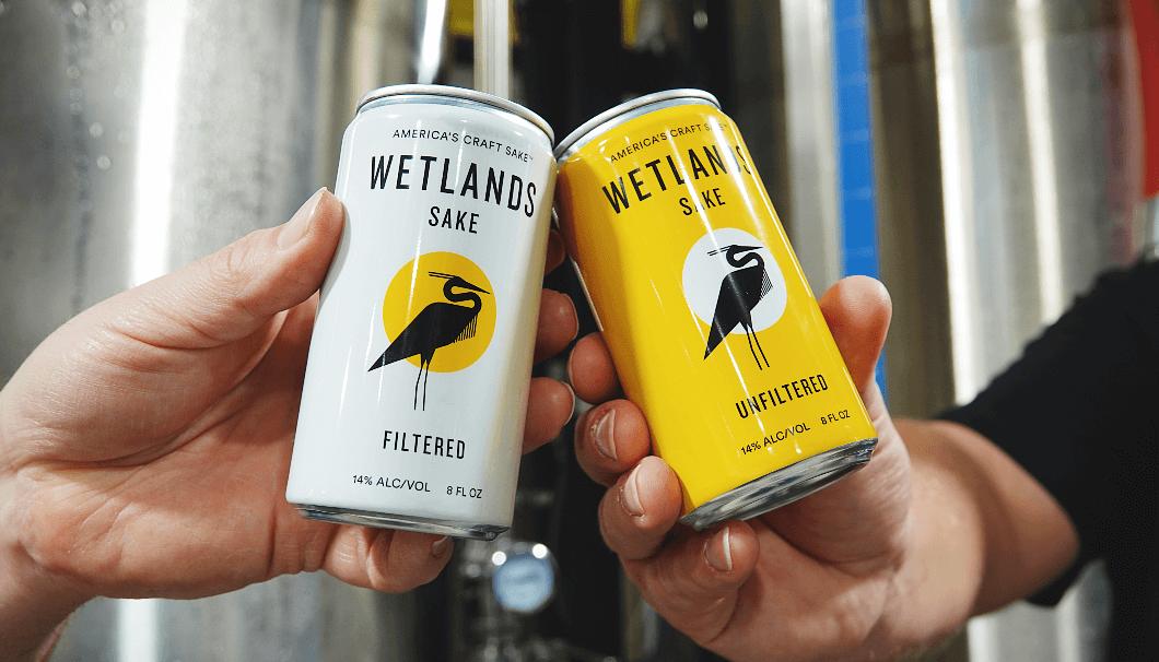 「Wetlands Sake」の缶入りSAKE