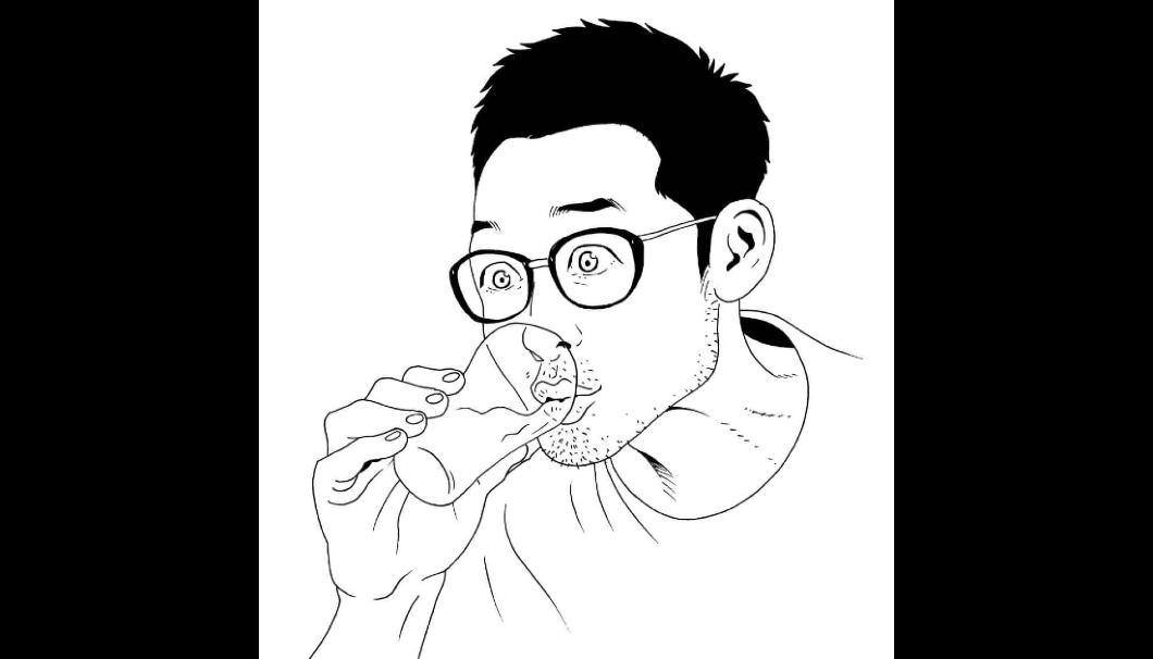 横手市在住の漫画家・佐々木昇平さんによる似顔絵